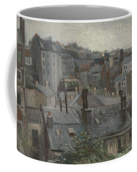 Nature Coffee Mug featuring the painting View From Vincent S Studio Paris, June 1886 Vincent Van Gogh 1853 1890 by Artistic Panda