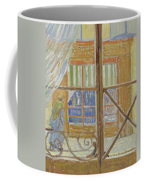 Art Coffee Mug featuring the painting View Of A Butcher S Shop Arles, February 1888 Vincent Van Gogh 1853 1890 by Artistic Panda