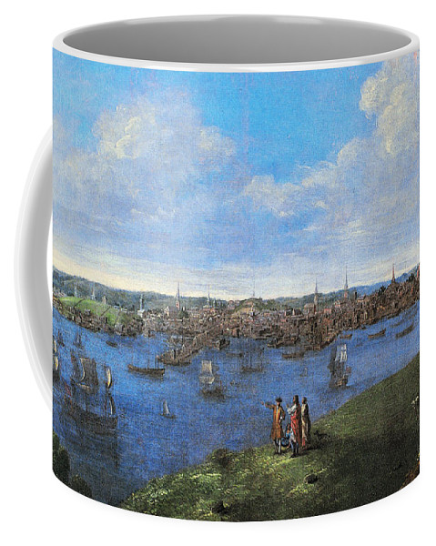 1738 Coffee Mug featuring the photograph View Of Boston, 1738 by Granger