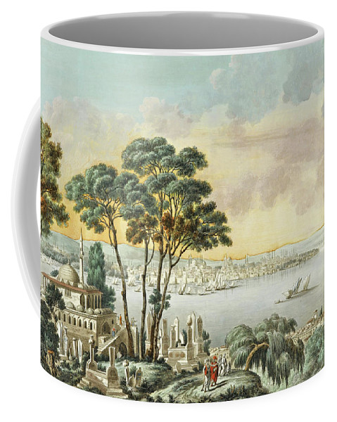 Louis-francois Cassas Coffee Mug featuring the drawing View Of Constantinople From The Marmara Sea by Louis-Francois Cassas