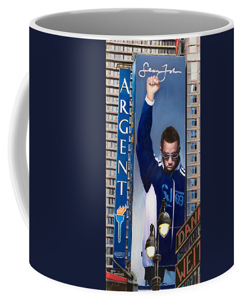 New York Coffee Mug featuring the painting View Of New York by Guido Borelli