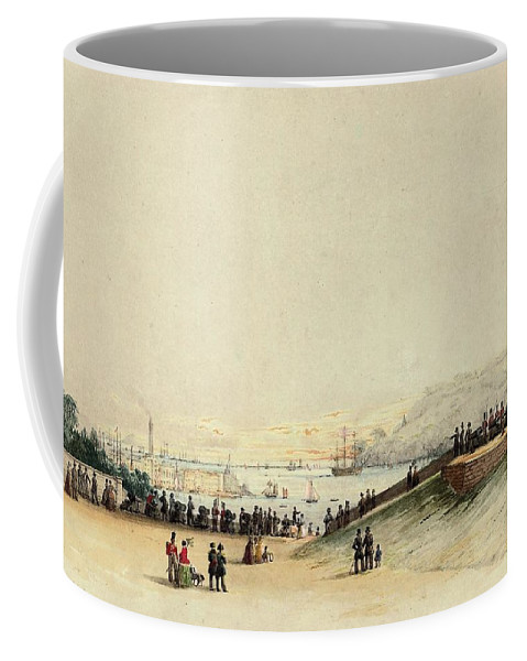 Nicholas Matthews Condy (plymouth 1818-1851) View Of Plymouth Hoe Coffee Mug featuring the painting View Of Plymouth Hoe by MotionAge Designs