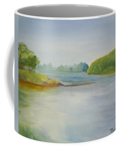 Delaware River Coffee Mug featuring the painting View of the Delaware by Sheila Mashaw