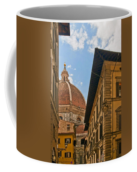 Florence Coffee Mug featuring the photograph View Of The Duomo by Mick Burkey