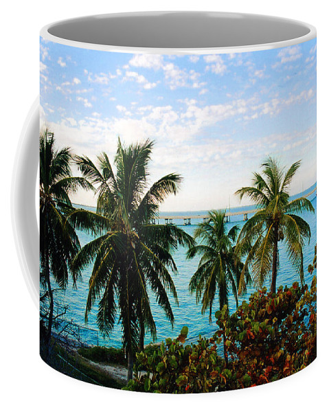 Tropical Coffee Mug featuring the photograph View To The 7 Mile Bridge by Susanne Van Hulst