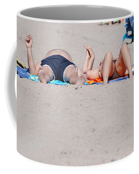 People Coffee Mug featuring the photograph Views At The Beach by Rob Hans