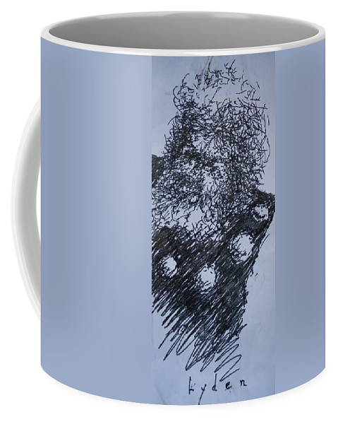 Sketch Coffee Mug featuring the painting Viking by Les Lyden