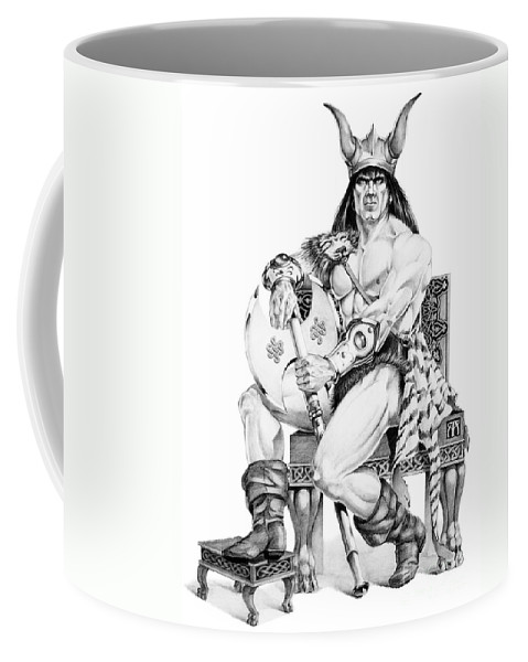 Viking Coffee Mug featuring the painting Viking Warrior by Melissa A Benson