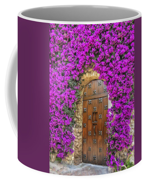 Villa Coffee Mug featuring the painting Villa Doorway by Dominic Piperata