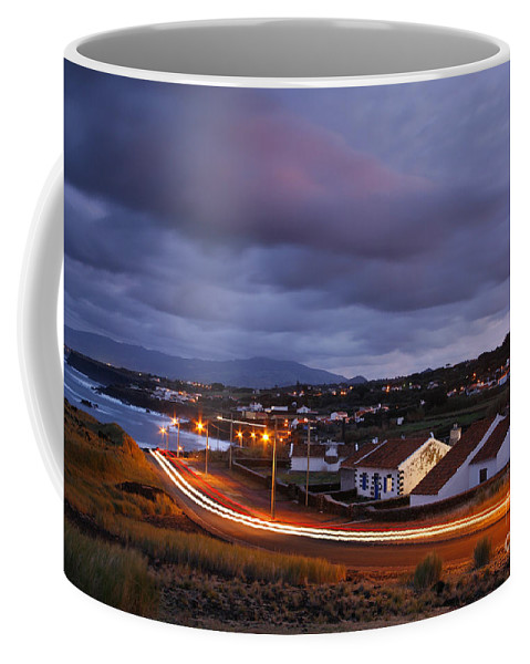 Capelas Coffee Mug featuring the photograph Village At Twilight by Gaspar Avila