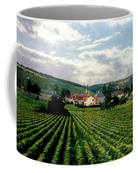 Vineyards Coffee Mug featuring the photograph Village In The Vineyards Of France by Nancy Mueller