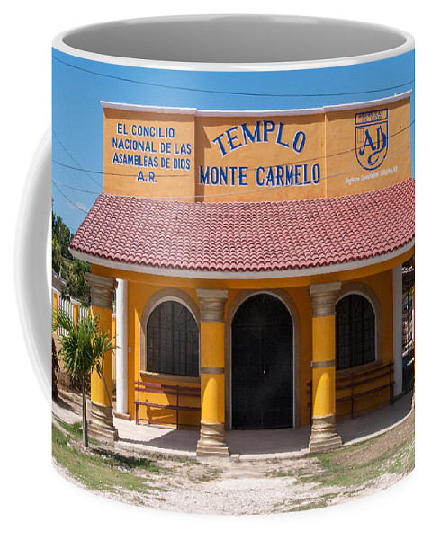 Yucatan Peninsula Coffee Mug featuring the digital art Village Of Coba by Carol Ailles