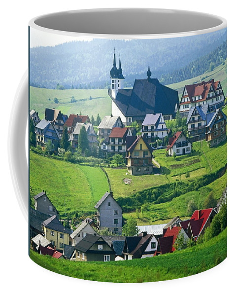 Village Coffee Mug featuring the digital art Village by Zia Low