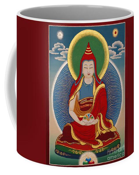 Thangka Coffee Mug featuring the painting Vimalamitra Vidyadhara by Sergey Noskov