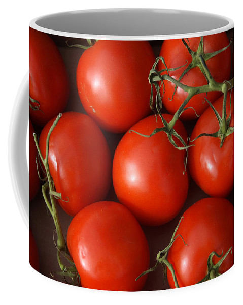 Tomatoes Coffee Mug featuring the photograph Vine Ripe Tomatoes Fine Art Food Photography by James BO Insogna
