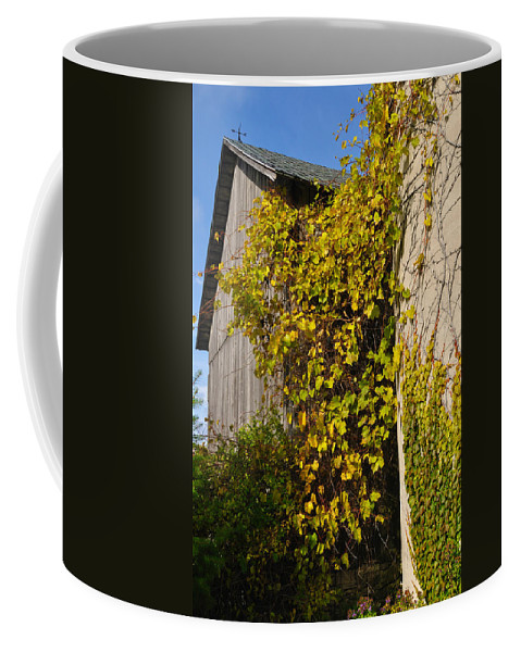 Silo Coffee Mug featuring the photograph Vined Silo by Tim Nyberg