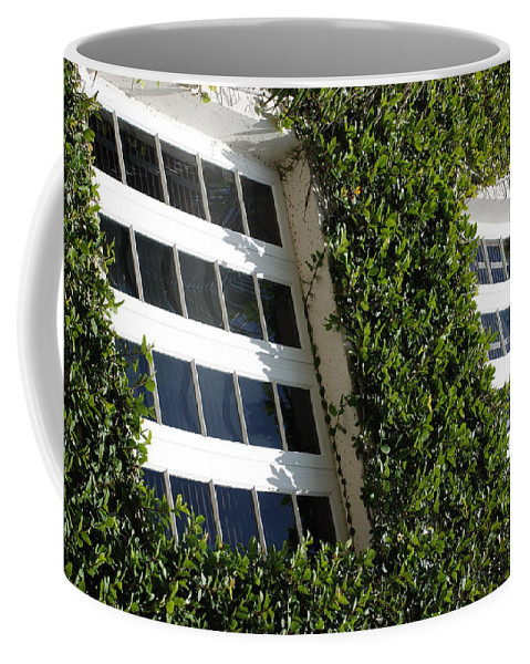 Architecture Coffee Mug featuring the photograph Vines And Glass by Rob Hans