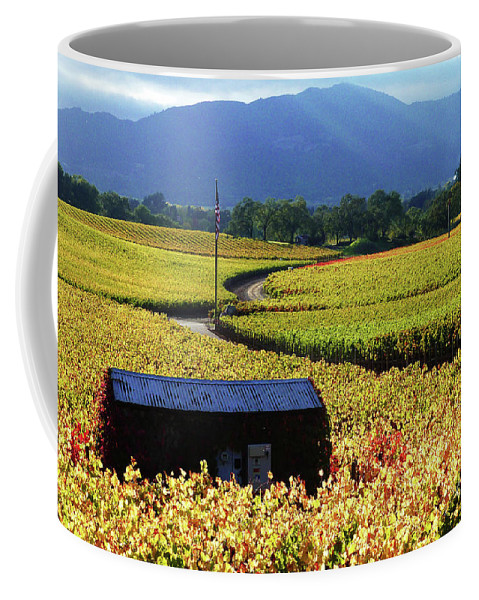 California Wine Country Scenery Coffee Mug featuring the photograph Vineyard 25 by Xueling Zou