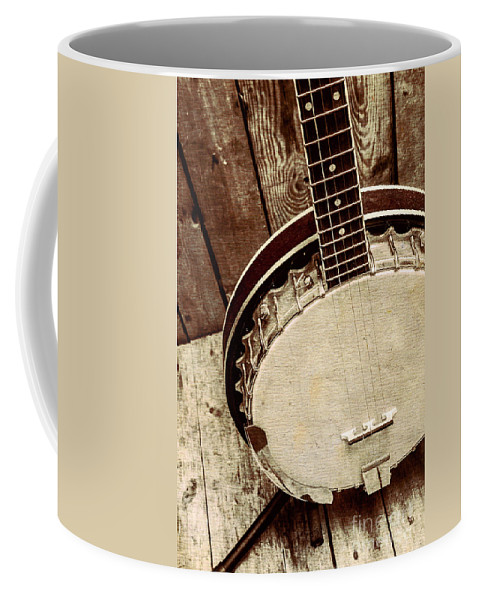 String Coffee Mug featuring the photograph Vintage Banjo Barn Dance by Jorgo Photography - Wall Art Gallery