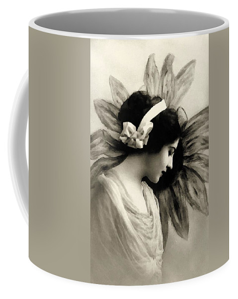 Vintage Coffee Mug featuring the painting Vintage Beauty by Georgiana Romanovna
