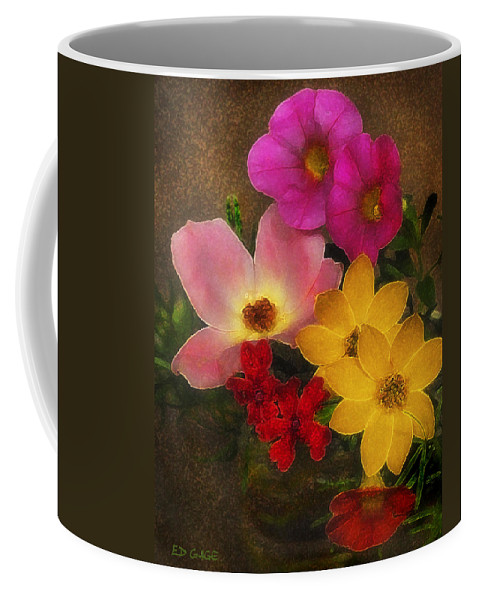 Flower Coffee Mug featuring the photograph Vintage Bouquet by Ed A Gage