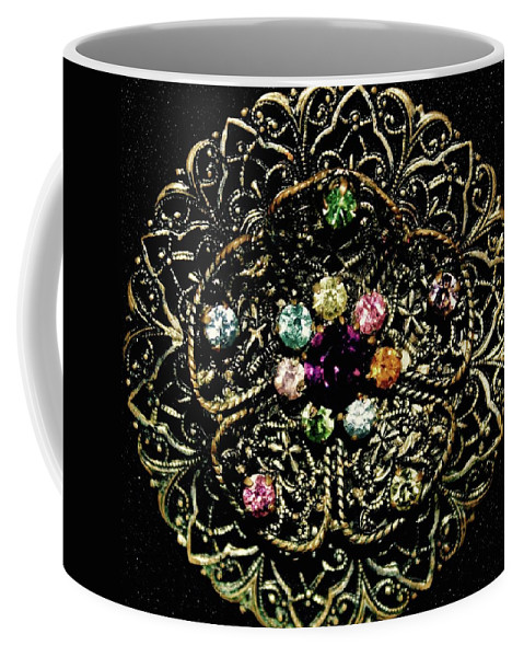 Jewelry Coffee Mug featuring the photograph Vintage Brooch by Amy Craft