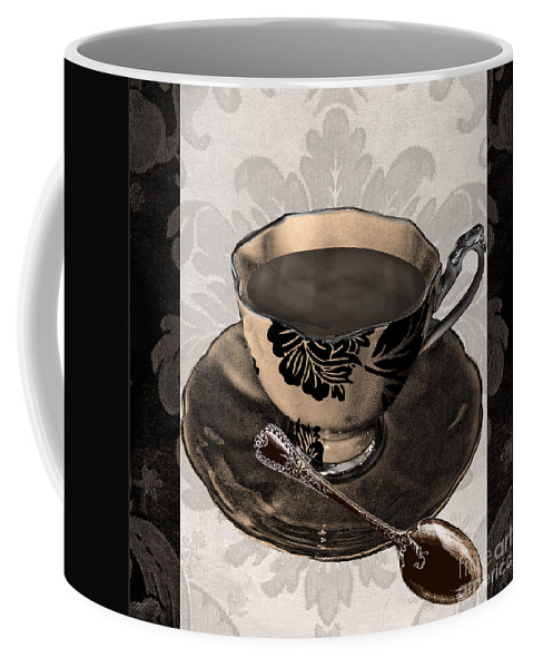 Vintage Coffee Cup Coffee Mug featuring the painting Vintage Cafe Iv by Mindy Sommers