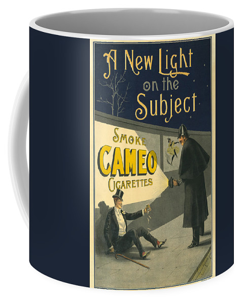 Cigarettes Coffee Mug featuring the photograph Vintage Cigarette Ad 1900 by Andrew Fare