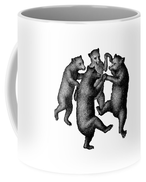 More From Edward Fielding Coffee Mug featuring the drawing Vintage Dancing Bears by Edward Fielding