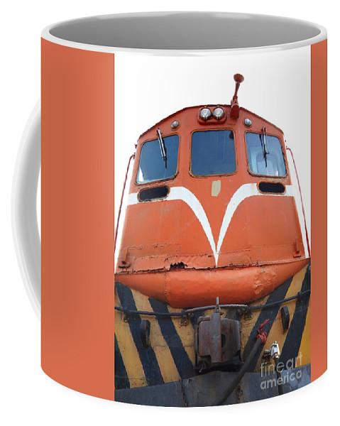 Diesel Coffee Mug featuring the photograph Vintage Diesel Engine by Yali Shi