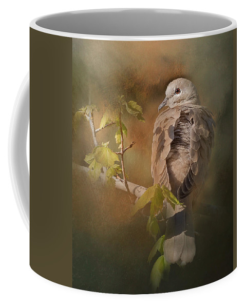 Bokeh Coffee Mug featuring the photograph Vintage Dove by Vicki Stansbury