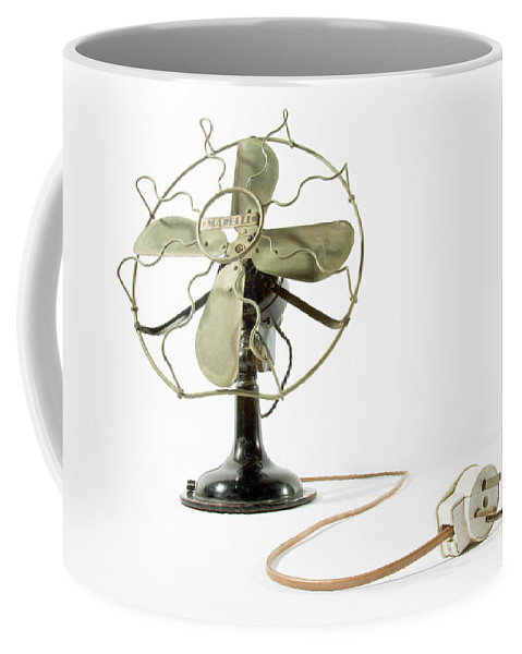 Psi Coffee Mug featuring the photograph Vintage Fan 4 by Tal Bedrack