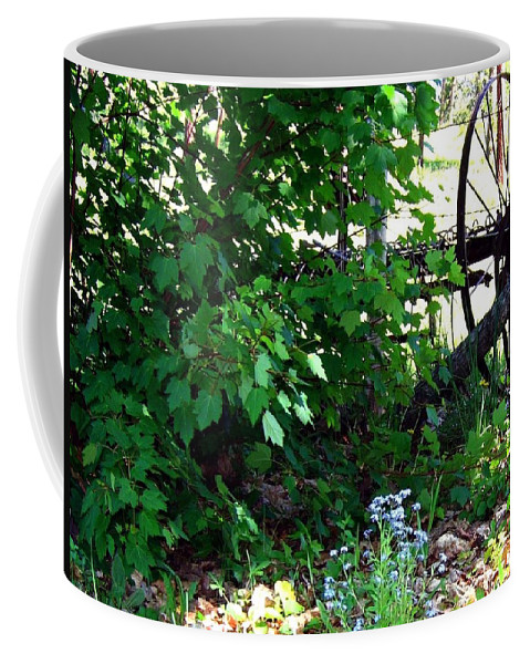 Farm Rake Coffee Mug featuring the photograph Vintage Farm Rake by Will Borden