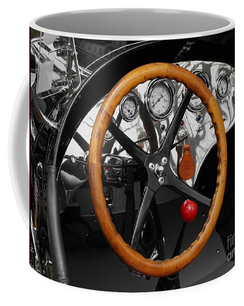 Ford Race Car Coffee Mug featuring the photograph Vintage Ford Racer Dashboard by Neil Zimmerman