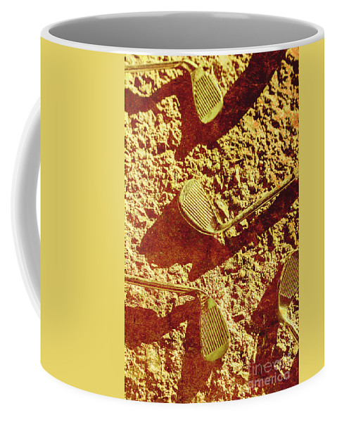 Vintage Coffee Mug featuring the photograph Vintage Golf Irons by Jorgo Photography - Wall Art Gallery