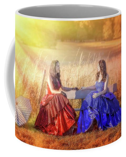 Woman Coffee Mug featuring the photograph Vintage Gossip by Svetlana Sewell