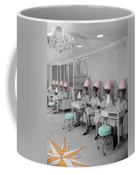 Hair Salon Coffee Mug featuring the photograph Vintage Hair Salon by Andrew Fare