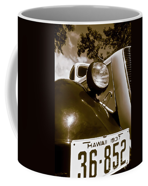 1937 Ford Coffee Mug featuring the photograph 1937 Ford Pickup Truck Maui Hawaii by Jim Cazel