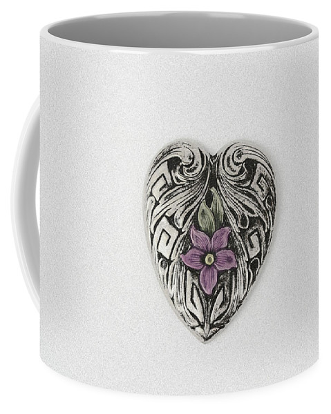Heart Coffee Mug featuring the photograph Vintage Heart by Susan Newcomb