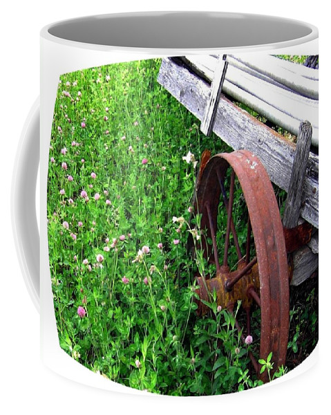 Irrigation Wagon Coffee Mug featuring the photograph Vintage Irrigation Wagon by Will Borden