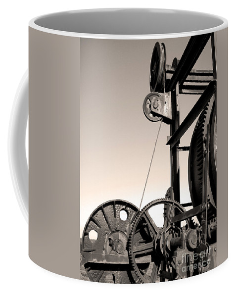 Antique Coffee Mug featuring the photograph Vintage Machinery by Gaspar Avila