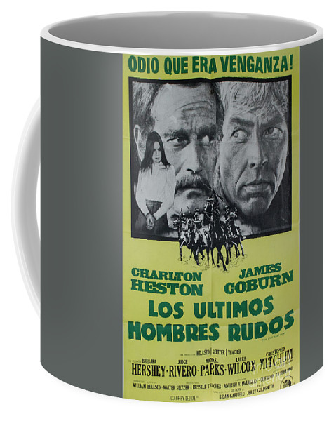Los Ultimos Hombres Rudos Coffee Mug featuring the photograph Vintage Movie Poster 6 by Bob Christopher