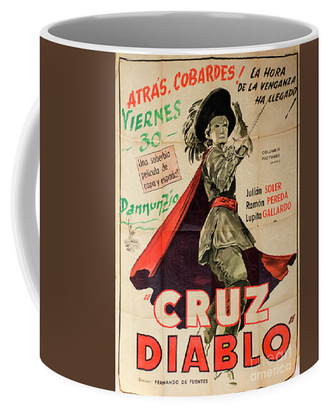 Cruz Diablo Coffee Mug featuring the photograph Vintage Movie Poster 7 by Bob Christopher