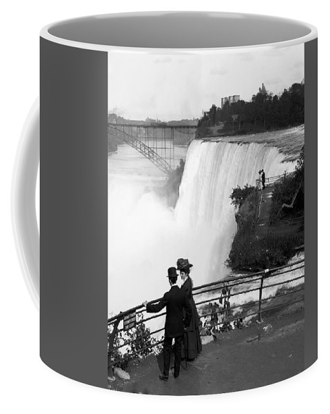 Niagara Falls Coffee Mug featuring the photograph Vintage Niagara Falls - View From Goat Island - 1908 by War Is Hell Store