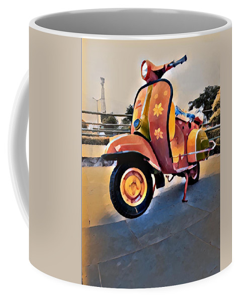 Scooter Coffee Mug featuring the photograph Vintage Scooter by Satyajit Kharkar