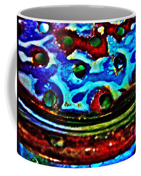 Photograph Of Strainer Coffee Mug featuring the photograph Vintage Strainer Four by Gwyn Newcombe