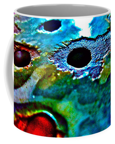 Photograph Of Strainer Coffee Mug featuring the photograph Vintage Strainer Three by Gwyn Newcombe