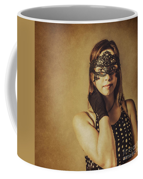 Party Coffee Mug featuring the photograph Vintage Theatre Show Girl by Jorgo Photography - Wall Art Gallery