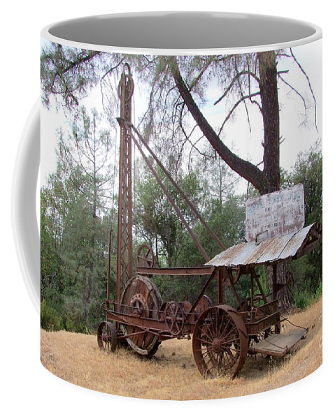 Well Driller Coffee Mug featuring the photograph Vintage Well Driller 1 by Mary Deal