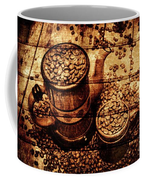 Vintage Wooden Coffee Shop Sign Coffee Mug